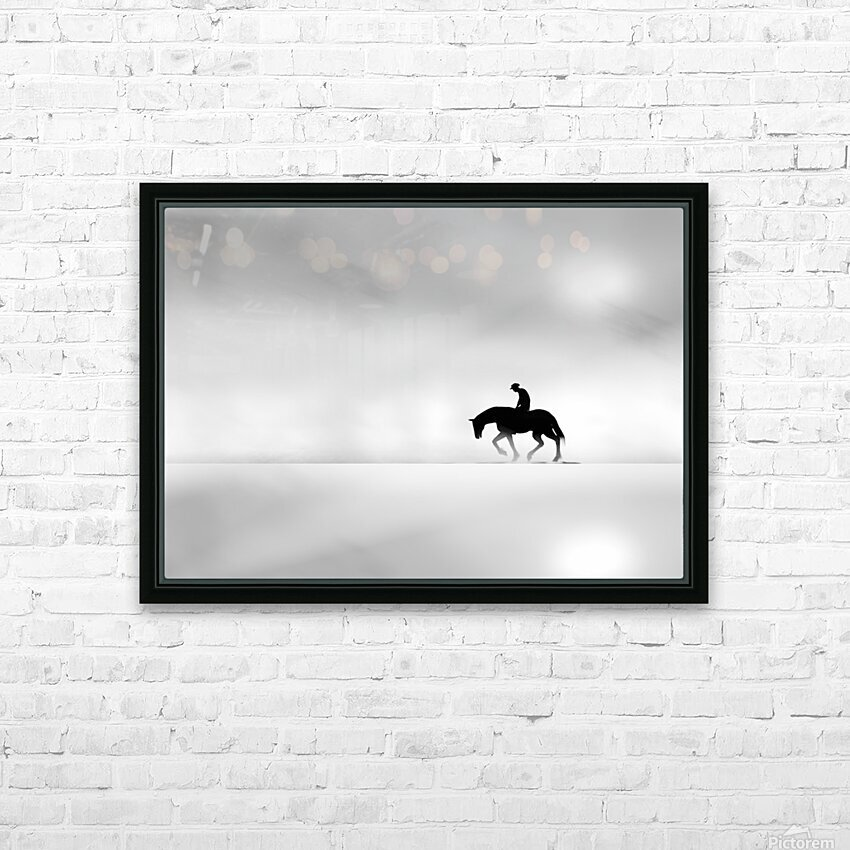 Cowboy HD Sublimation Metal print with Decorating Float Frame (BOX)
