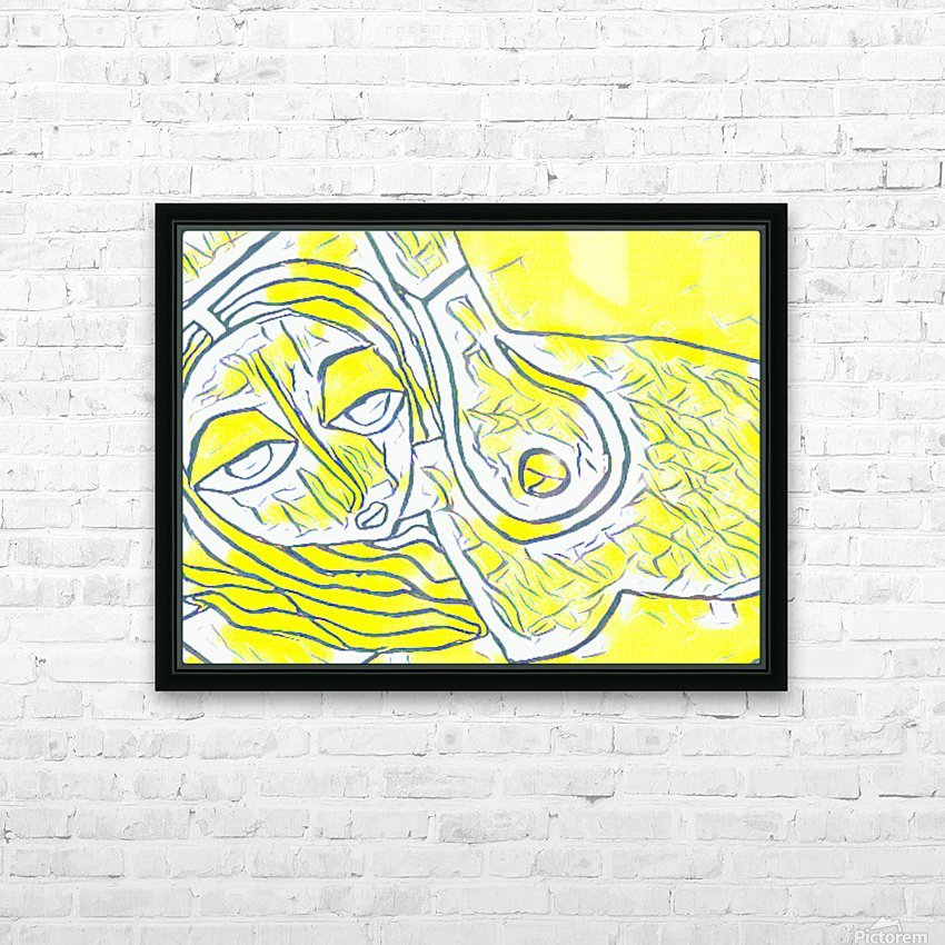 yellow girl HD Sublimation Metal print with Decorating Float Frame (BOX)