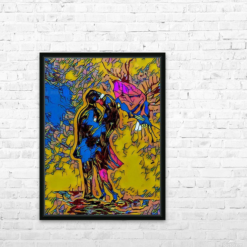 abstract love HD Sublimation Metal print with Decorating Float Frame (BOX)