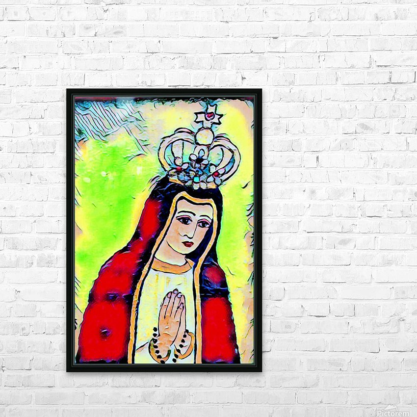saint abstract HD Sublimation Metal print with Decorating Float Frame (BOX)