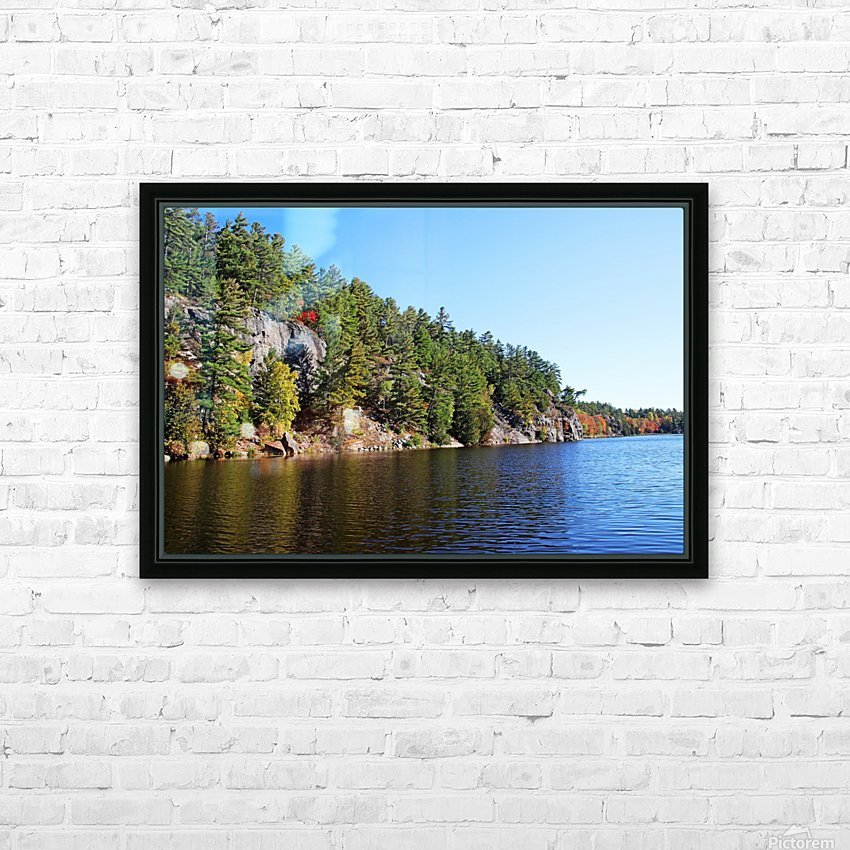 Key River Shore In Fall II HD Sublimation Metal print with Decorating Float Frame (BOX)