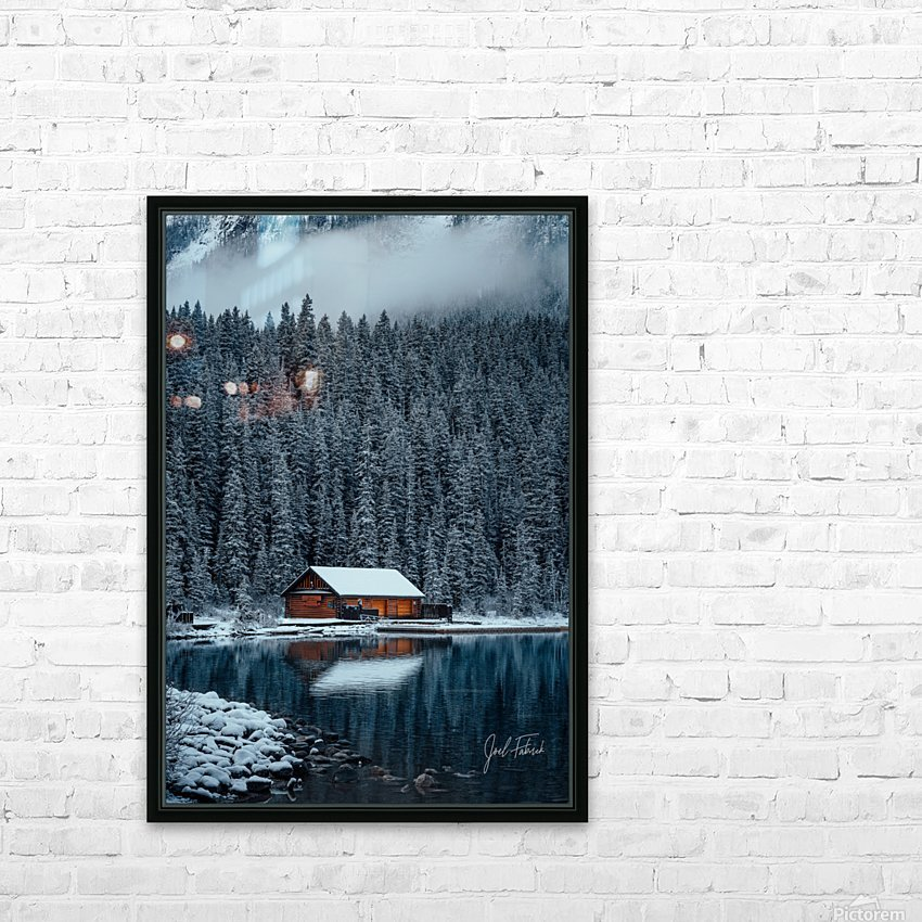 Lake Louise Cabin HD Sublimation Metal print with Decorating Float Frame (BOX)