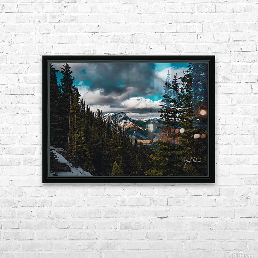 Cascade Mountain Through The Trees HD Sublimation Metal print with Decorating Float Frame (BOX)