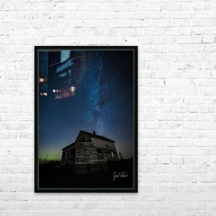Abandoned House Milky Way   Hi Res   A3 HD Sublimation Metal print with Decorating Float Frame (BOX)