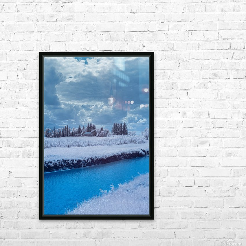 Infrared River HD Sublimation Metal print with Decorating Float Frame (BOX)