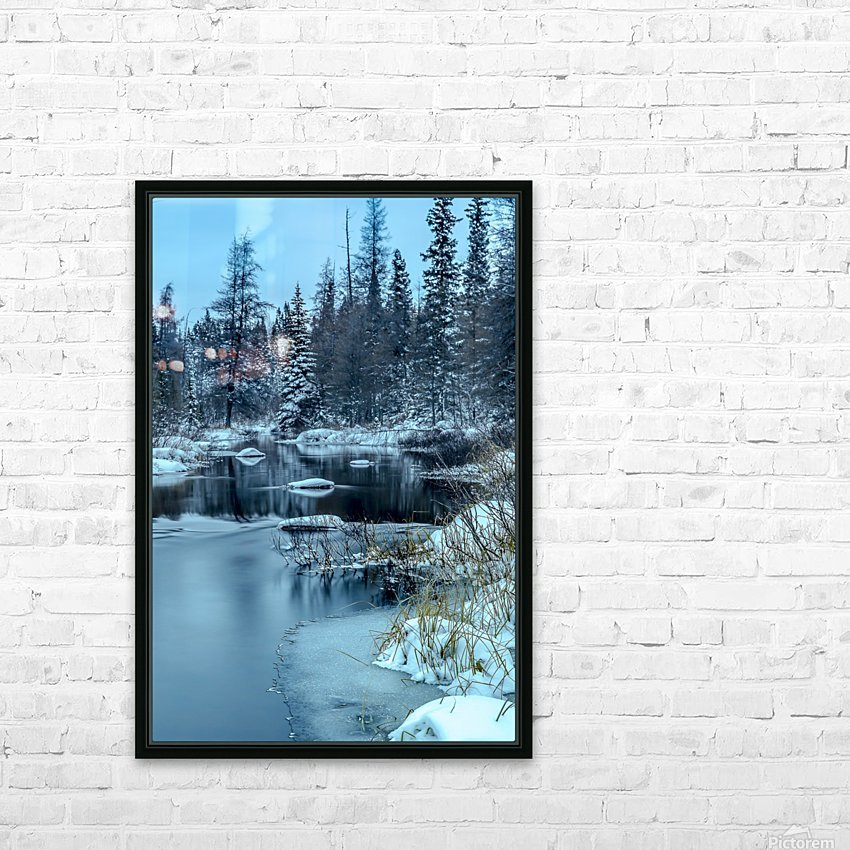 River and snow HD Sublimation Metal print with Decorating Float Frame (BOX)