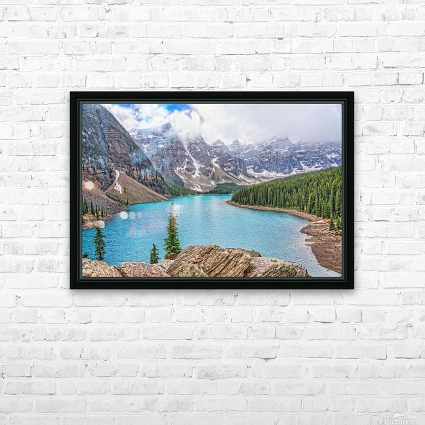 Moraine Lake in Banff National Park BC HD Sublimation Metal print with Decorating Float Frame (BOX)