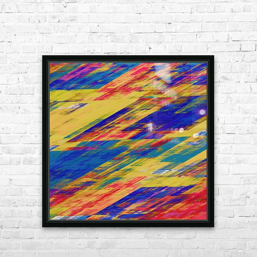 Abstract Composition 232 HD Sublimation Metal print with Decorating Float Frame (BOX)