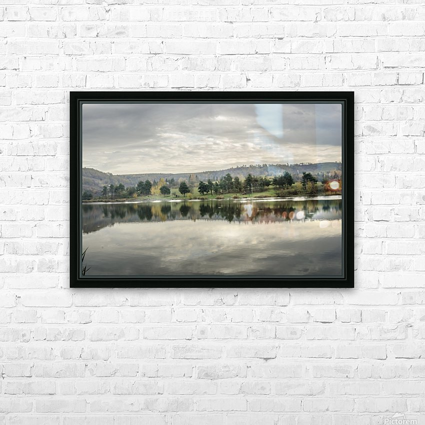 Autumn Lake Reflections HD Sublimation Metal print with Decorating Float Frame (BOX)