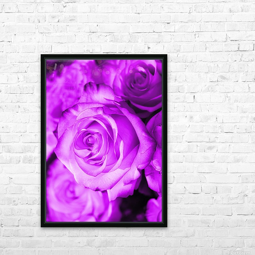 Rose purple  HD Sublimation Metal print with Decorating Float Frame (BOX)