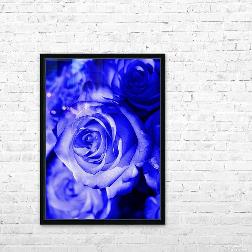 Rose blue HD Sublimation Metal print with Decorating Float Frame (BOX)