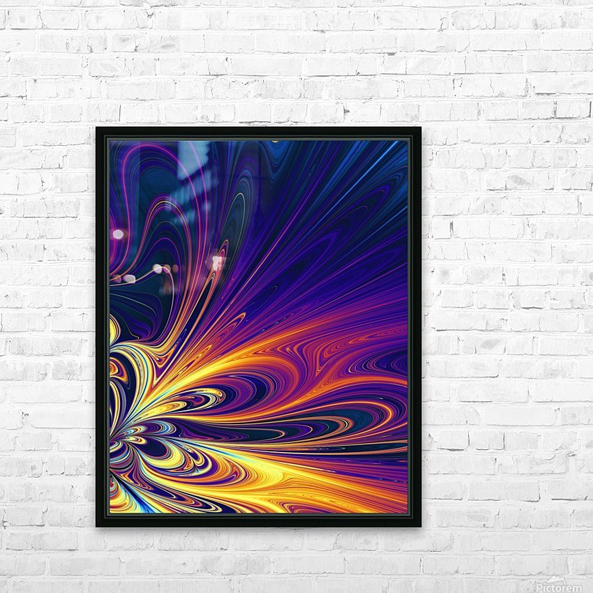 Abstract Composition 374 HD Sublimation Metal print with Decorating Float Frame (BOX)