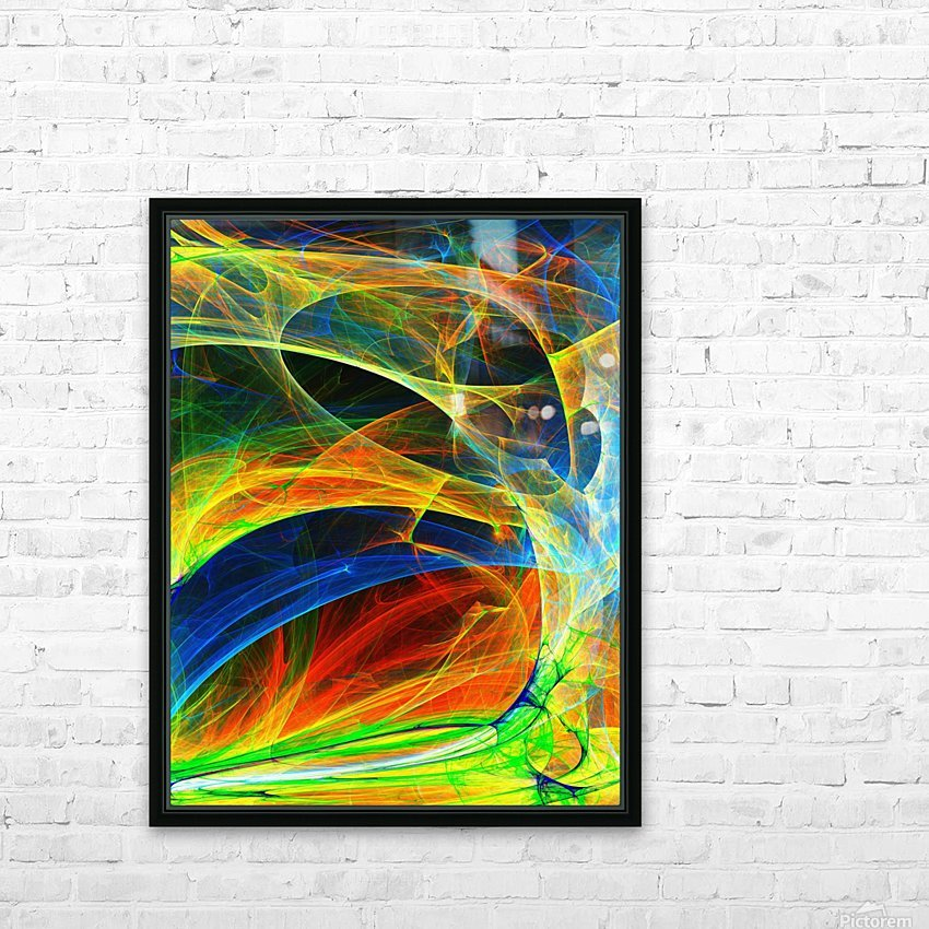 Abstract Composition 395 HD Sublimation Metal print with Decorating Float Frame (BOX)
