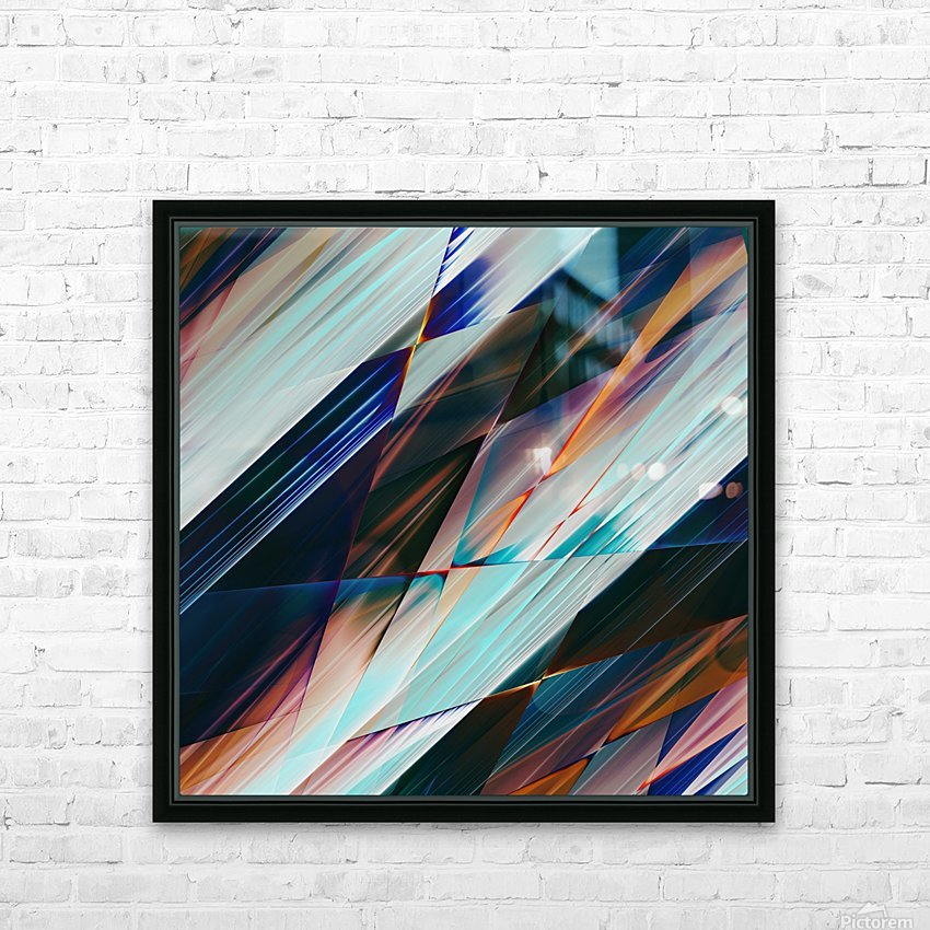 Abstract Composition 426 HD Sublimation Metal print with Decorating Float Frame (BOX)