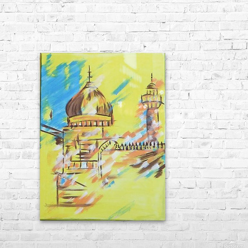 Ahson_Qazi_Geometrical_Islamic abstract artahson_qaziShades_of_DivinityIslamic_Artstretched canvass 12x16 HD Sublimation Metal print with Decorating Float Frame (BOX)