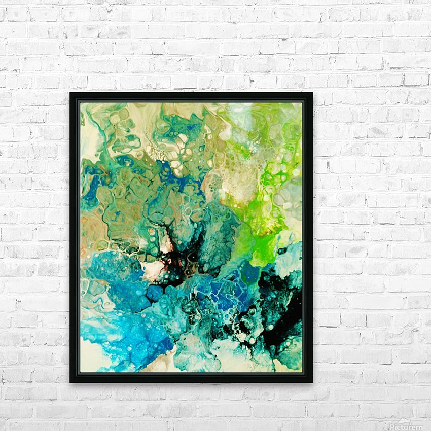 Abstract Composition 754 HD Sublimation Metal print with Decorating Float Frame (BOX)