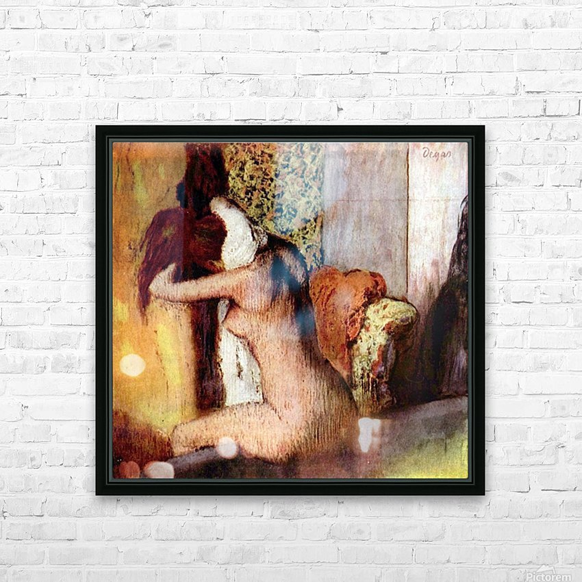 After bathing 2 by Degas HD Sublimation Metal print with Decorating Float Frame (BOX)