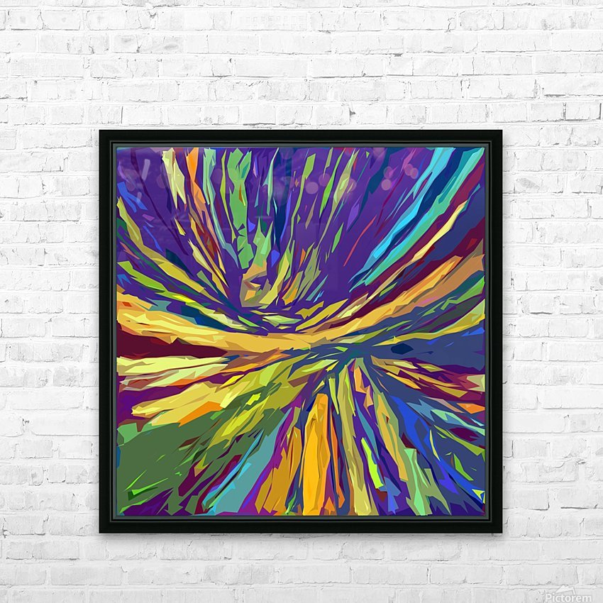 Abstract Composition 731 HD Sublimation Metal print with Decorating Float Frame (BOX)