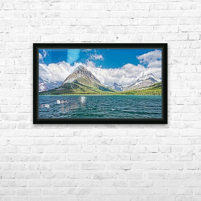 Mount Grinnell HD Sublimation Metal print with Decorating Float Frame (BOX)