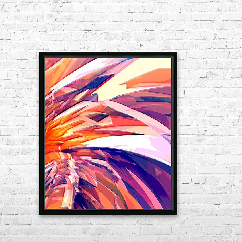 Abstract Composition 695 HD Sublimation Metal print with Decorating Float Frame (BOX)