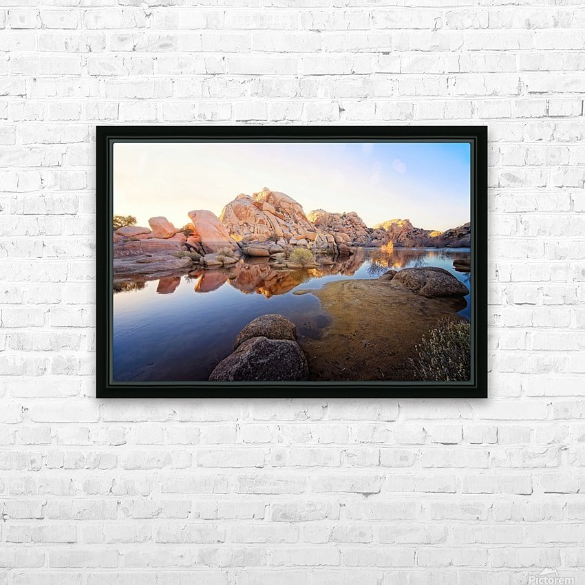 Barker Dam at Sunset HD Sublimation Metal print with Decorating Float Frame (BOX)