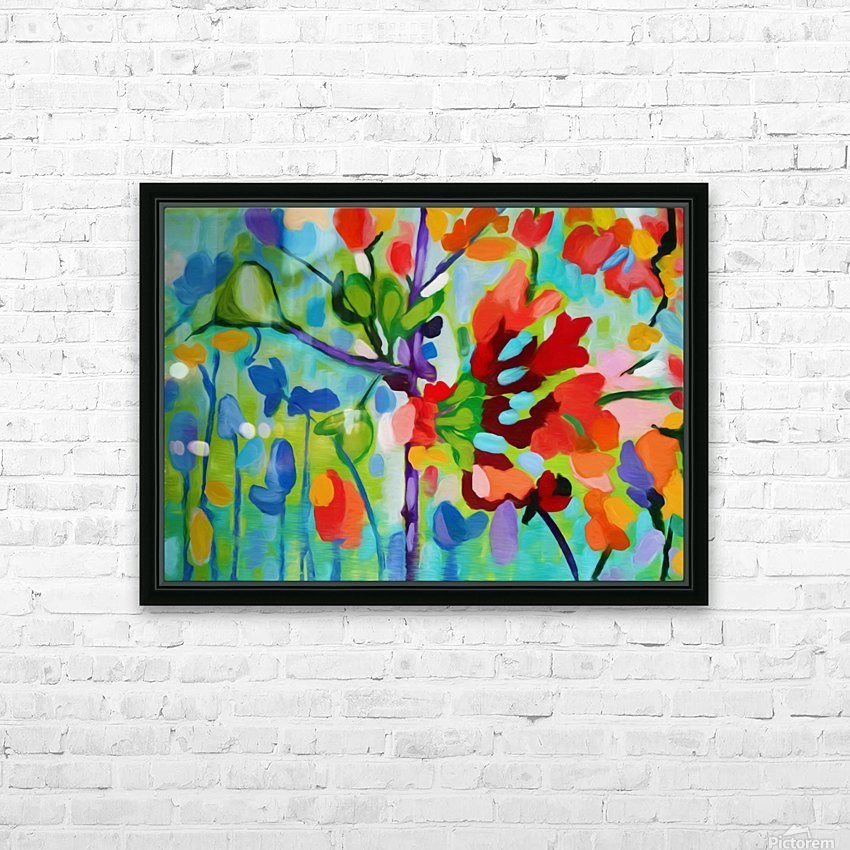 Floral 2 HD Sublimation Metal print with Decorating Float Frame (BOX)