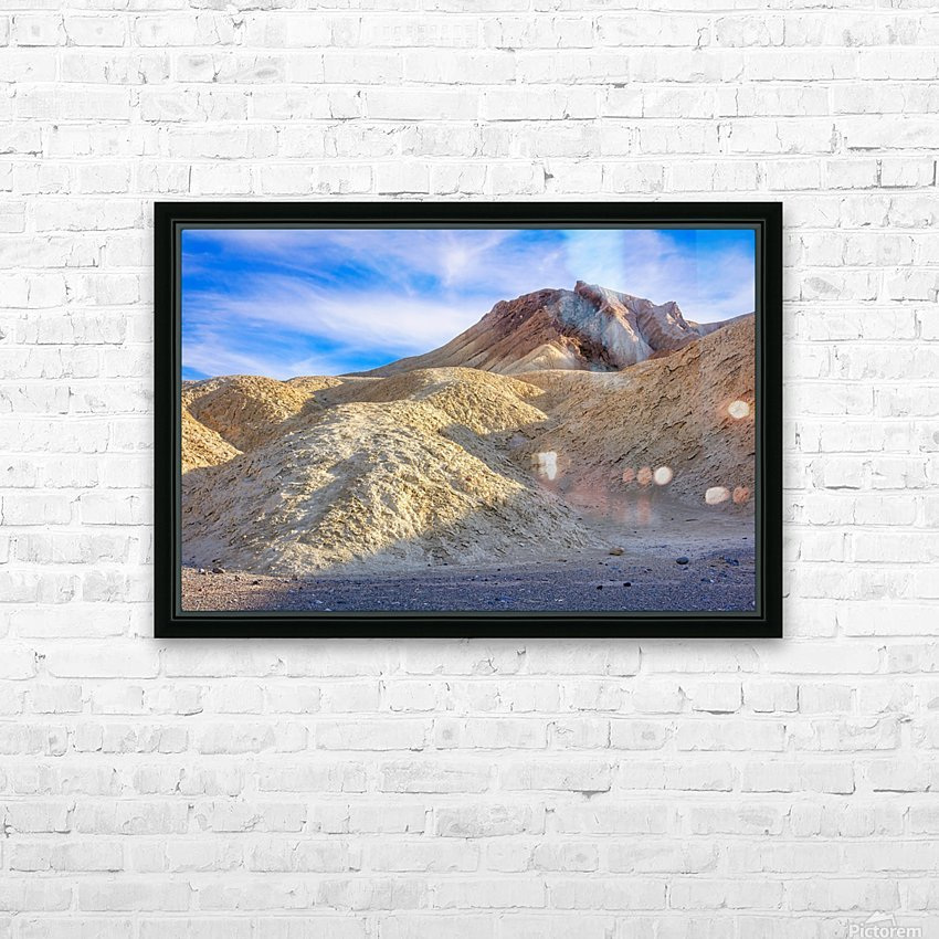 Badlands of Death Valley HD Sublimation Metal print with Decorating Float Frame (BOX)