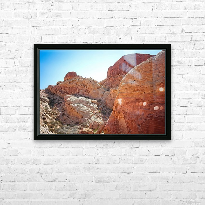The White Domes View 2 HD Sublimation Metal print with Decorating Float Frame (BOX)