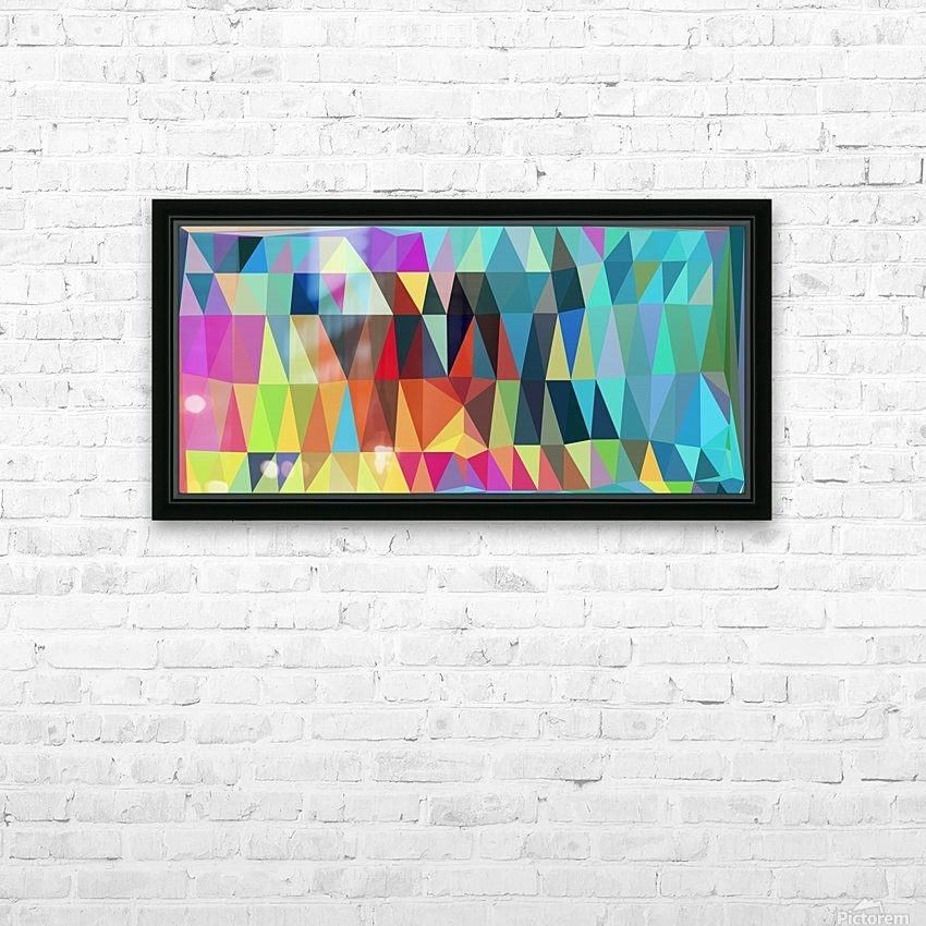 Abstract Composition 643 HD Sublimation Metal print with Decorating Float Frame (BOX)