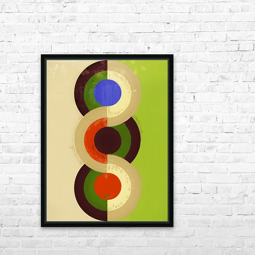 Abstract Composition 626 HD Sublimation Metal print with Decorating Float Frame (BOX)