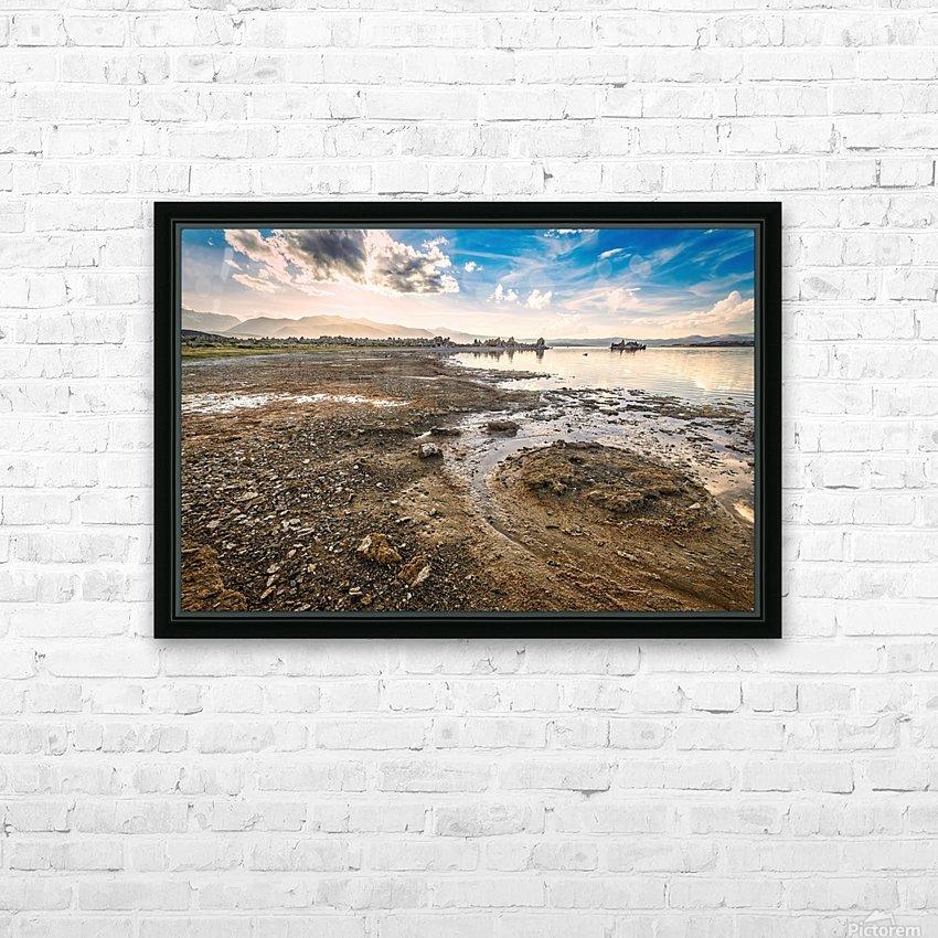 Mono Lake Shoreline HD Sublimation Metal print with Decorating Float Frame (BOX)