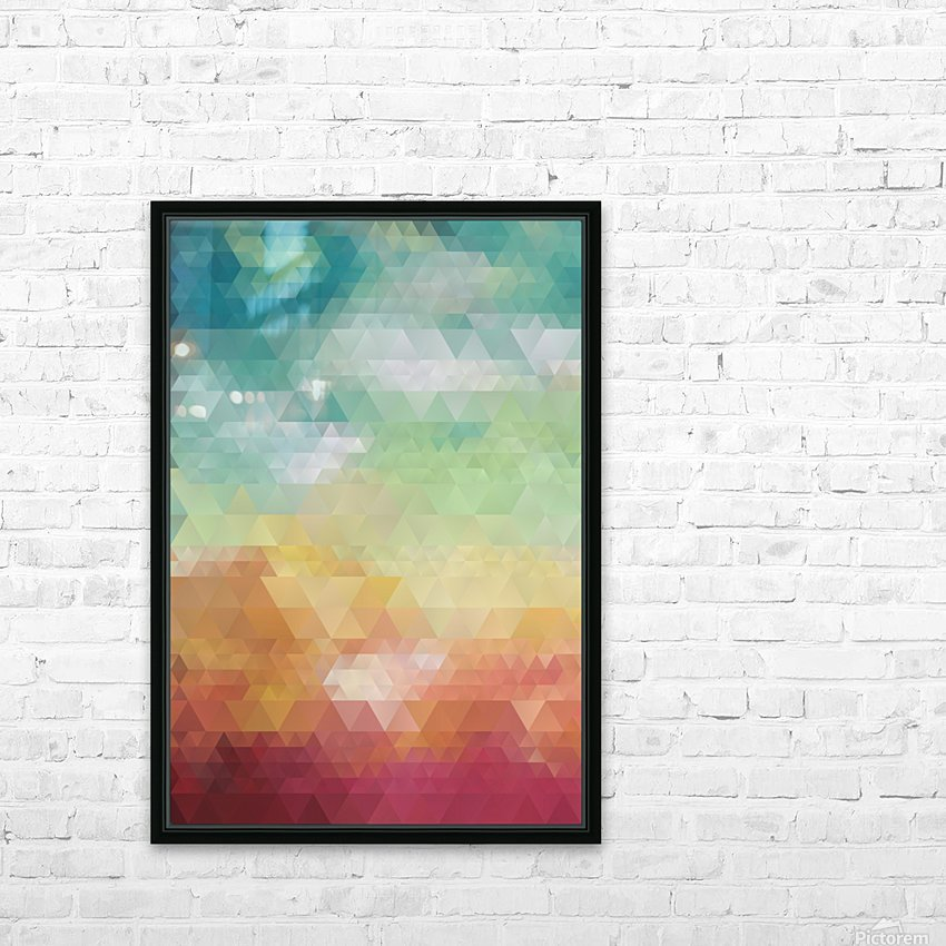 Abstract Composition 550 HD Sublimation Metal print with Decorating Float Frame (BOX)