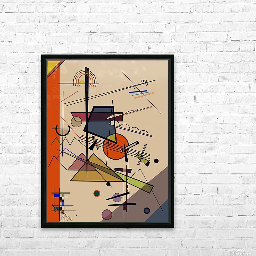Abstract Composition 522 HD Sublimation Metal print with Decorating Float Frame (BOX)