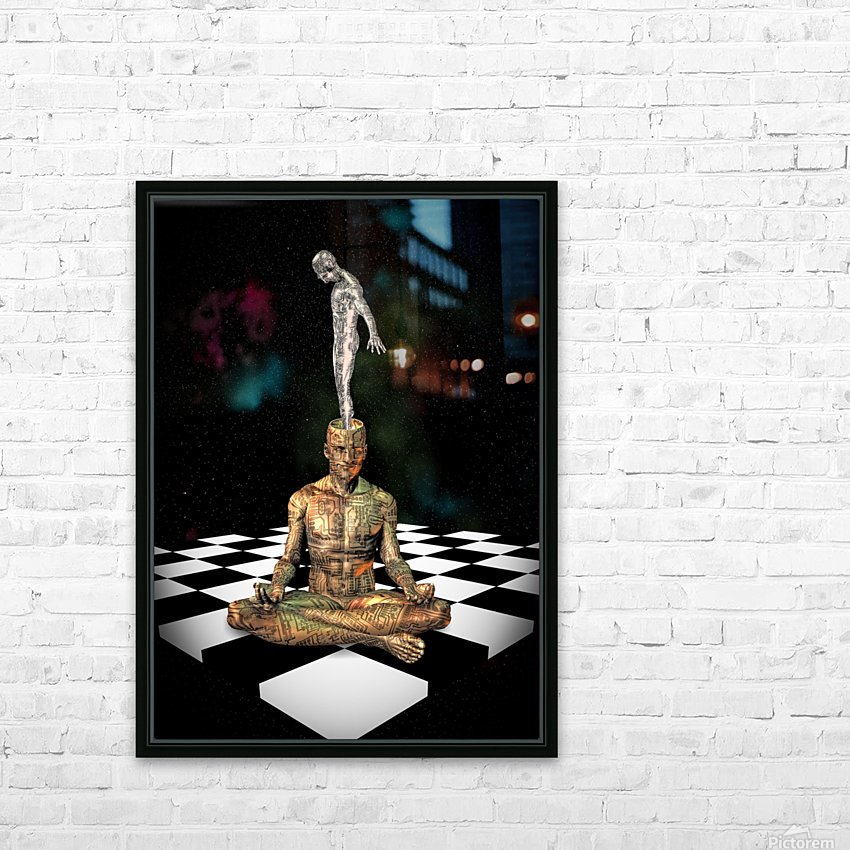 Cyborg Soul HD Sublimation Metal print with Decorating Float Frame (BOX)