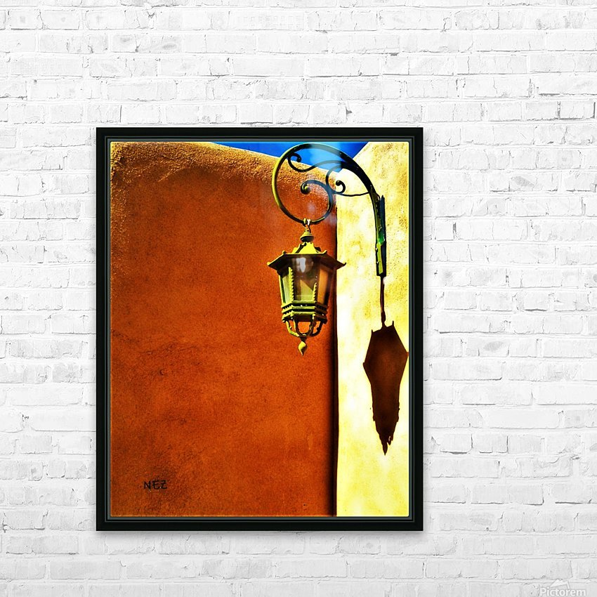 Lantern Shadow HD Sublimation Metal print with Decorating Float Frame (BOX)