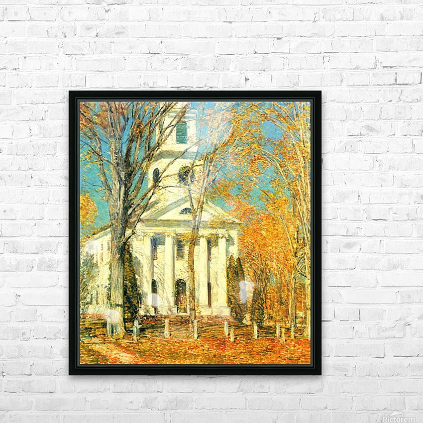 The Church of Old Lyme, Connecticut -2- by Hassam HD Sublimation Metal print with Decorating Float Frame (BOX)