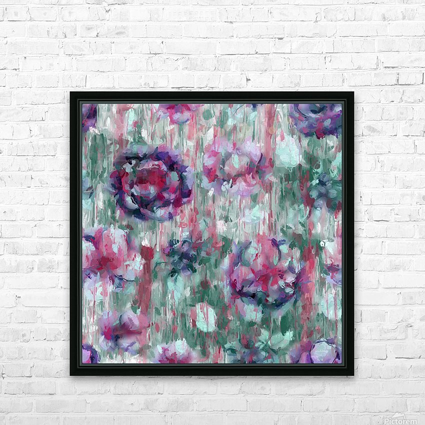 Multicolor Abstract Floral  HD Sublimation Metal print with Decorating Float Frame (BOX)