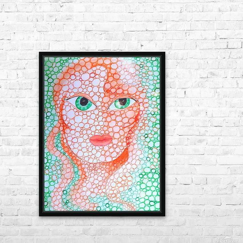 Girl and Circles HD Sublimation Metal print with Decorating Float Frame (BOX)