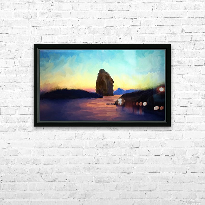 Oniric River HD Sublimation Metal print with Decorating Float Frame (BOX)