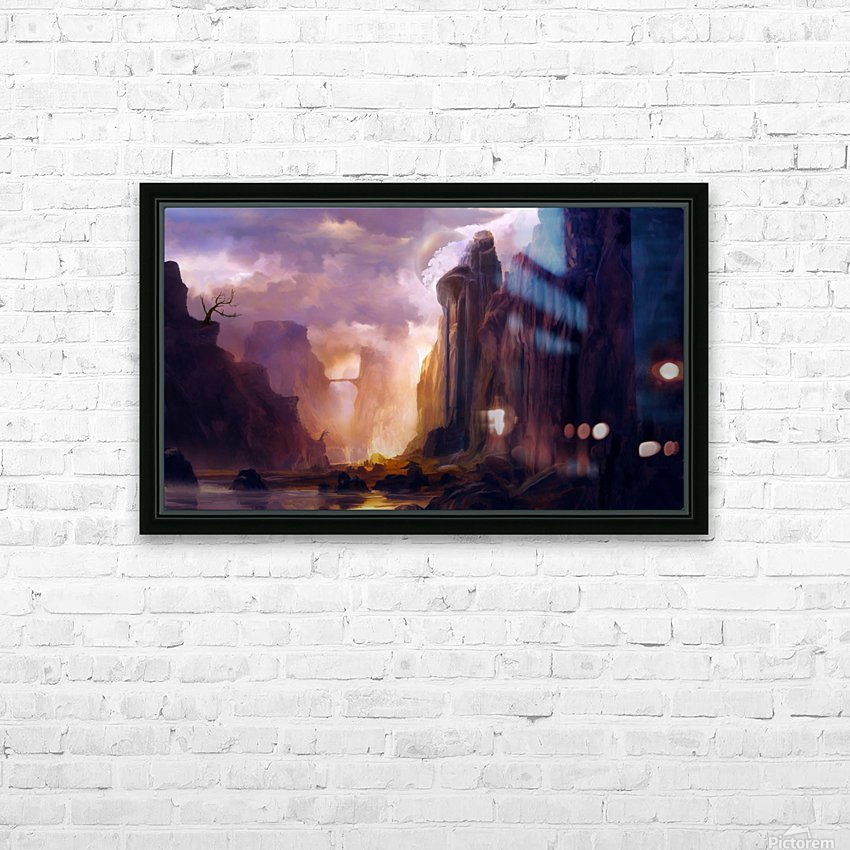 Rock Walls HD Sublimation Metal print with Decorating Float Frame (BOX)