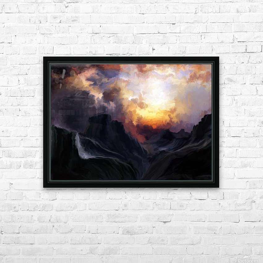 Dark Mountains HD Sublimation Metal print with Decorating Float Frame (BOX)