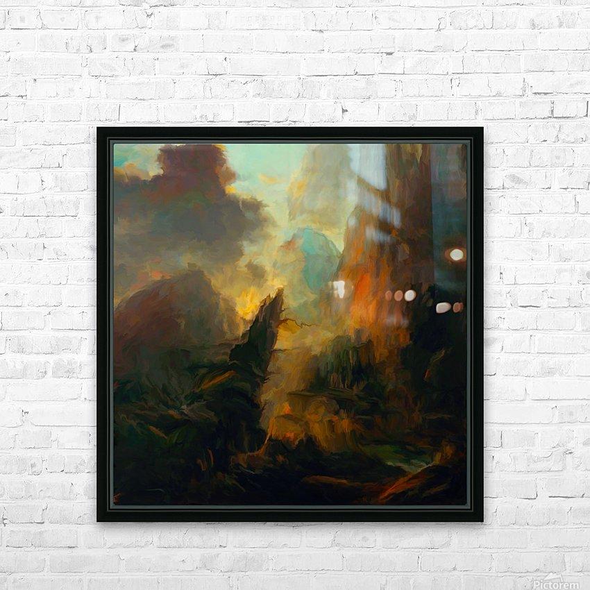 Fierce Landscape HD Sublimation Metal print with Decorating Float Frame (BOX)