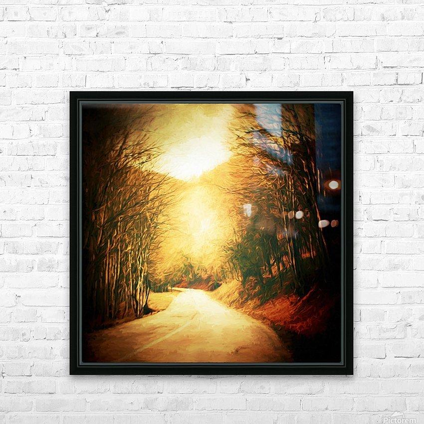 Autumnal Landscape 2 HD Sublimation Metal print with Decorating Float Frame (BOX)