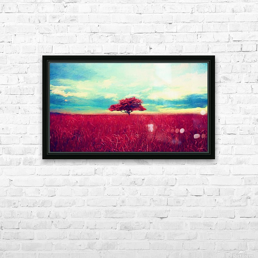Red Tree HD Sublimation Metal print with Decorating Float Frame (BOX)