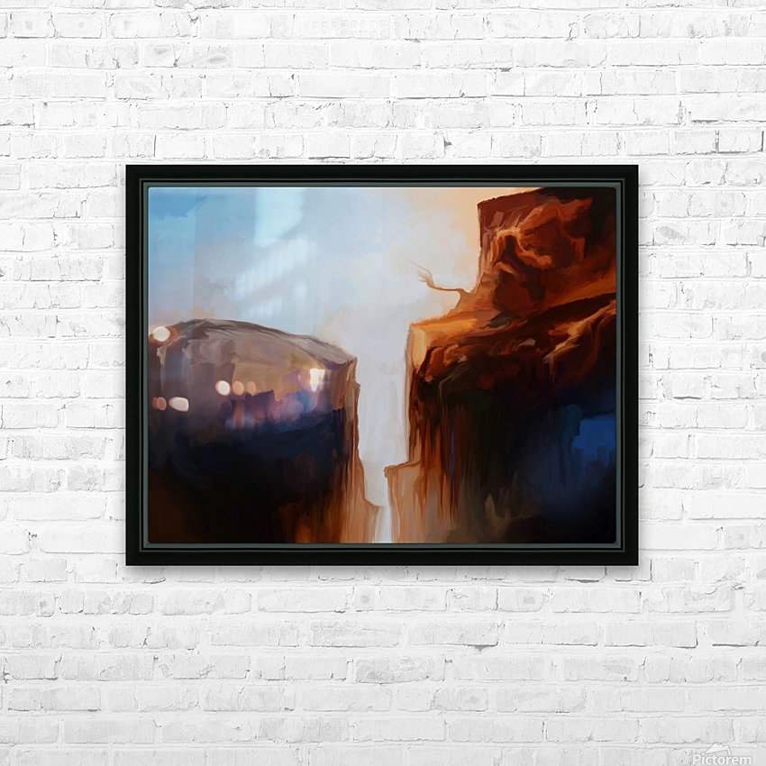 Sharp Cliffs HD Sublimation Metal print with Decorating Float Frame (BOX)