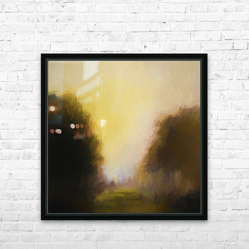 Impressionist landscape HD Sublimation Metal print with Decorating Float Frame (BOX)