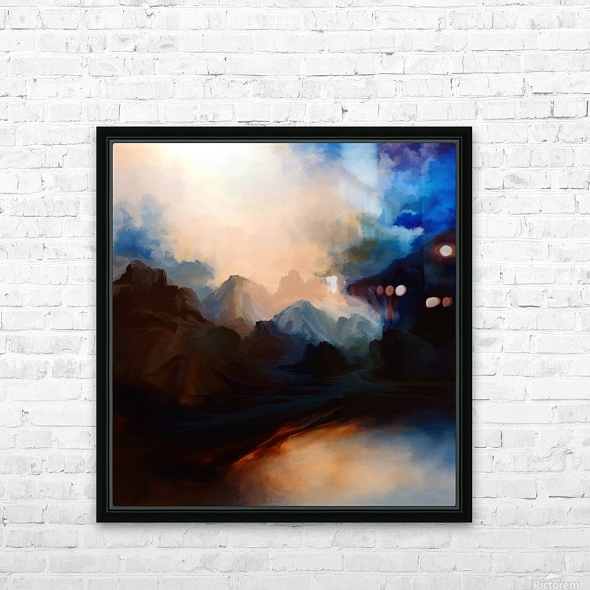 Sunset in the Mountains 25 HD Sublimation Metal print with Decorating Float Frame (BOX)
