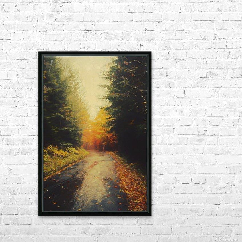 Autumnal Landscape 4 HD Sublimation Metal print with Decorating Float Frame (BOX)
