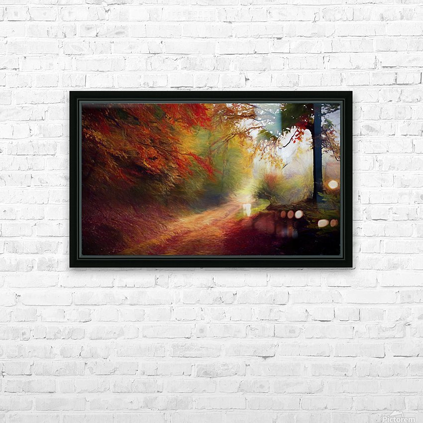 Autumnal Landscape 5 HD Sublimation Metal print with Decorating Float Frame (BOX)