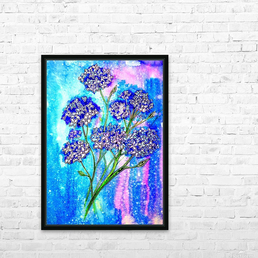 Hydrangeas HD Sublimation Metal print with Decorating Float Frame (BOX)